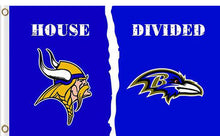 Load image into Gallery viewer, Minnesota Vikings vs Baltimore Ravens Divided Flag