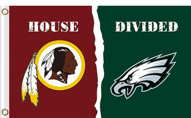 Washington Redskins vs Philadelphia Eagles Divided Flag