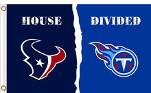 Load image into Gallery viewer, Houston Texans vs Tennessee Titans Divided Flag