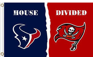 Houston Texans vs Tampa Bay Buccaneers Divided Flag