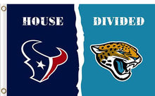 Load image into Gallery viewer, Houston Texans vs Jacksonville Jaguars Divided Flag