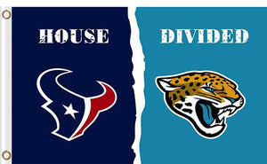 Houston Texans vs Jacksonville Jaguars Divided Flag