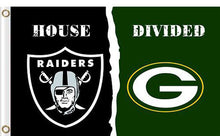 Load image into Gallery viewer, Oakland Raiders vs Green Bay Packers Divided Flag