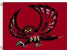 Load image into Gallery viewer, Temple Owls flag 90*150 CM Digital Printing