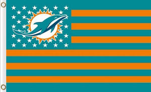 Miami Dolphins Flag Star and Stripes 3FTx5FT