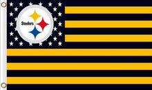 Load image into Gallery viewer, Pittsburgh Steelers Flag with Star and Stripes 3ftx5ft