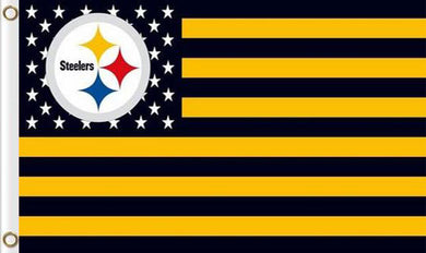 Pittsburgh Steelers Flag with Star and Stripes 3ftx5ft