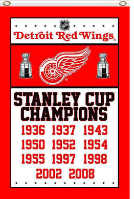 3x5ft Detroit Red Wings champions flag 90x150cm