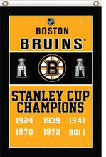 Load image into Gallery viewer, Boston Bruins flag 3ftx5ft Banner 100D Polyester Flag