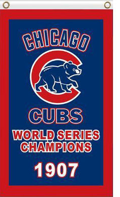 Chicago Cubs 1907 world series flag 3ftx5ft