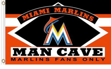Miami Marlins Man Cave Banner flag 3x5ft