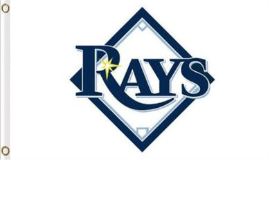 Tampa Bay Rays White Banner Flag 3x5ft