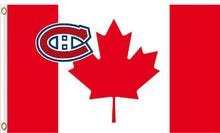 Load image into Gallery viewer, Montreal Canadiens Banner Canada flags 3x5 ft Banner flag