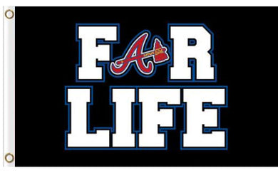 Atlanta Braves For Life flags 3ftx5ft