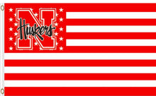 Load image into Gallery viewer, Nebraska Cornhuskers Star Banner Flag 3x5ft