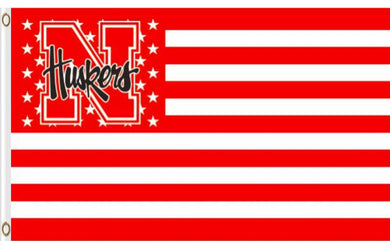Nebraska Cornhuskers Star Banner Flag 3x5ft