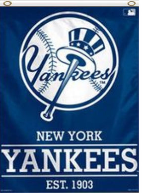 New York Yankees 1903 Top Hat Vertical Flag 3ft x 5ft