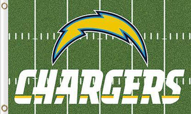 San Diego Chargers Green Flag 3ftx5ft