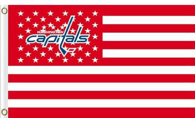 Washington Capitals USA flags with star and stripe 3x5 ft