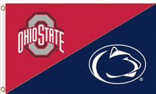 Load image into Gallery viewer, The Ohio State University and Penn State Divided Flag 3ftx5ft