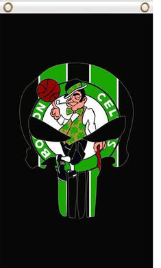 Boston Celtics skull flags 90x150cm