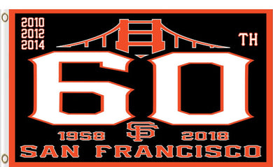 San Francisco Giants 60th Anniversary Banner flags 90x150cm