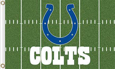 3x5ft Indianapolis Colts Green Flags