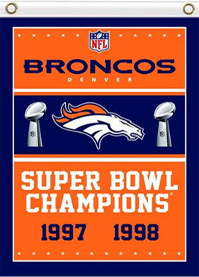 Denver Broncos Super Bowl Champions Flag Banner 3x5ft