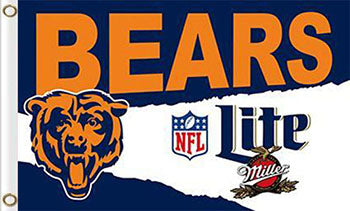 Chicago Bears Banners Lite Flags 3ftx5ft