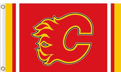 Calgary Flames custom flag 3ftx5ft