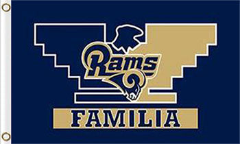 Los Angeles Rams Familia Flags 3ftx5ft