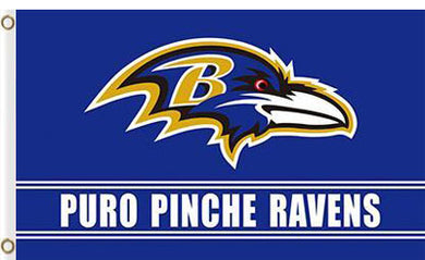 Baltimore Ravens Puro Pinche flag 3x5ft