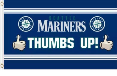 Seattle Mariners Stripes Polyester Banner flag 3ftx5ft