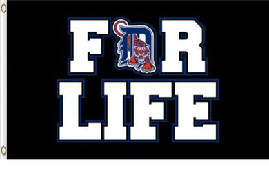 Detroit Tigers For Life Banner flags 3ftx5ft