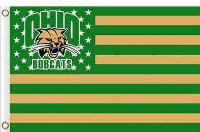 Ohio Bobcats Star and Stripes Banner Flag 3x5FT