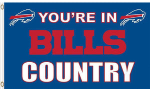 Buffalo Bills You Are in Country Flag 3ftx5ft