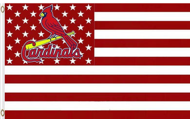 St. Louis Cardinals Star And Stripes Nation American Banner flag 3ftx5ft