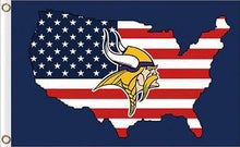 Load image into Gallery viewer, Minnesota Vikings US Flags 3ftx5ft