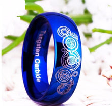 Load image into Gallery viewer, 8MM Blue Tungsten Doctor Who Gift Ring