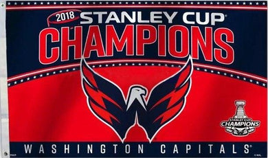 3x5 FT Washington Capitals 2018 Champions NEW Flag