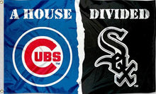 Load image into Gallery viewer, Chicago White Sox and Chicago Cubs House Divided flags 3x5ft