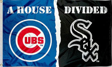 Chicago White Sox and Chicago Cubs House Divided flags 3x5ft