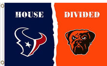Load image into Gallery viewer, Houston Texans vs Cleveland Browns Divided Flag