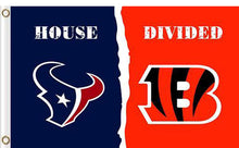 Load image into Gallery viewer, Houston Texans vs Cincinnati Bengals Divided Flag