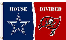 Load image into Gallery viewer, Dallas Cowboys vs Tampa Bay Buccaneers Divided Flag