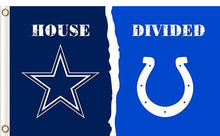 Load image into Gallery viewer, Dallas Cowboys vs Indianapolis Colts Divided Flag