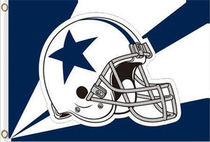 Dallas Cowboys helmet flag 3ftx5ft