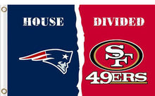 Load image into Gallery viewer, New England Patriots vs San Francisco 49ers Divided Flag