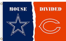 Load image into Gallery viewer, Dallas Cowboys vs Chicago Bears 2 Divided Flag