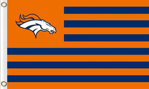 Denver Broncos Logo Banners Flags 3ftx5ft